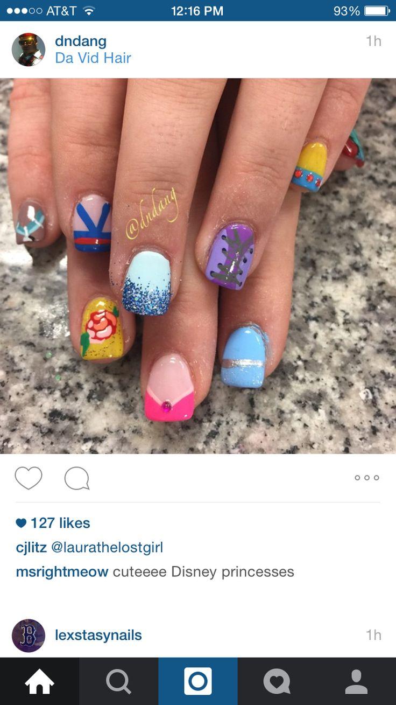 48 best Nails: Disney Princess images on Pinterest | Disney nails ...