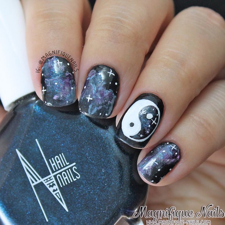 184 best hipster nails images on pinterest nail designs hipster nails ying yang prinsesfo Choice Image