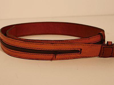 Cinturón con cremallera interior, ideal para viajes!! #Cuero #Leather #cinturon