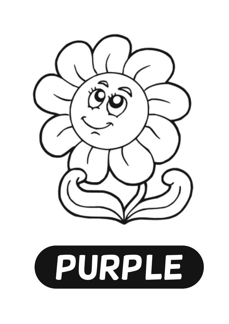 purple plant coloring pages - photo#11