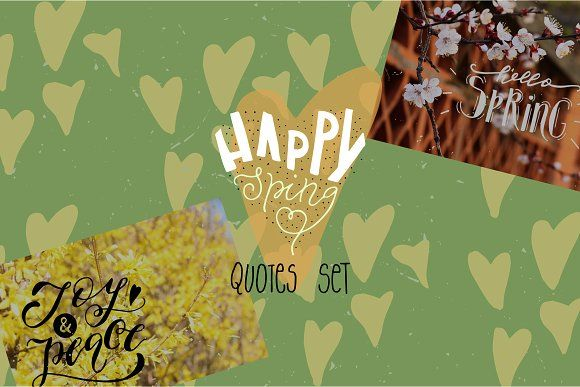 Spring overlay quotes by Creativemaker on @creativemarket