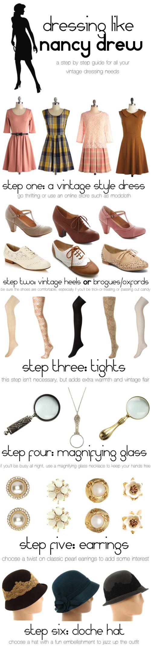 How To Dress Like Vintage Nancy Drew