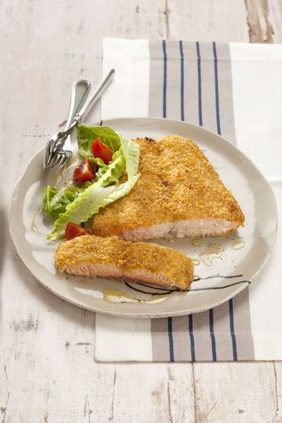Salmone al forno in crosta di zenzero