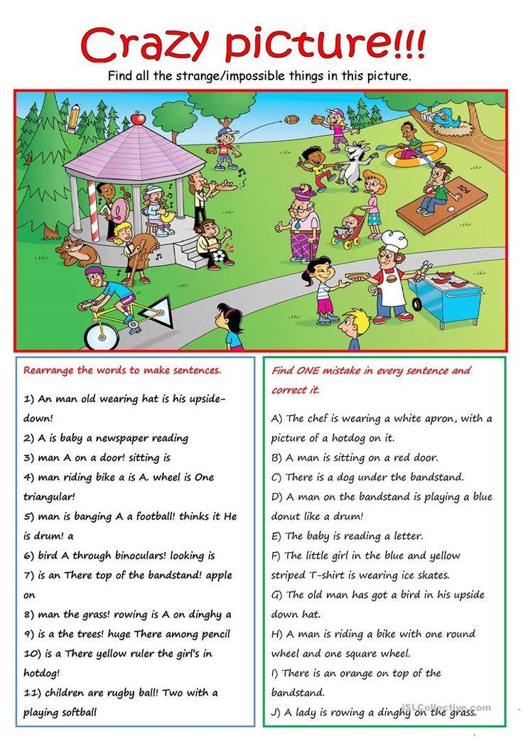 Crazy Scene Worksheet Free Esl Printable Worksheets