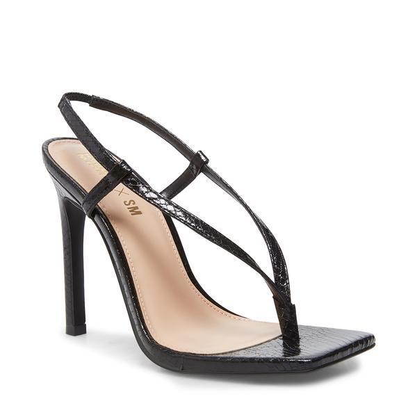 Bashment Black Snake In 2020 Stiletto Heels Steve Madden Store Winnie Harlow