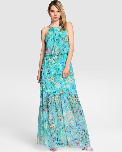 Vestido de fiesta de mujer Formula Joven con estampado de flores