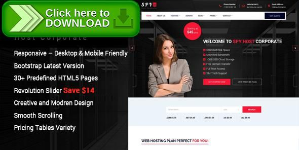 [ThemeForest]Free nulled download SPY - Web Hosting HTML5 Template from http://zippyfile.download/f.php?id=31360 Tags: clean, domain search, hosting, jquery, minimalistic, modern, php, register form, shared