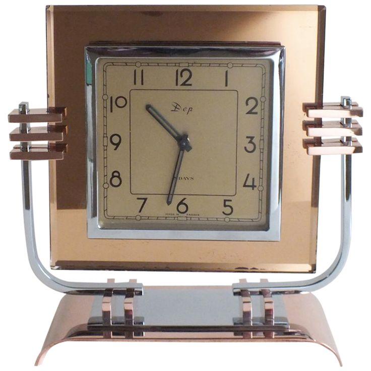 French Art Deco Dep Streamline Modern Art Deco Clock   COUNTRY:     France         CREATION DATE:     1930's