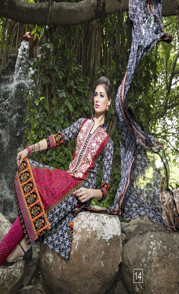 Spring Elegance Cotton Lawn With Self Embroidery Designer Suit