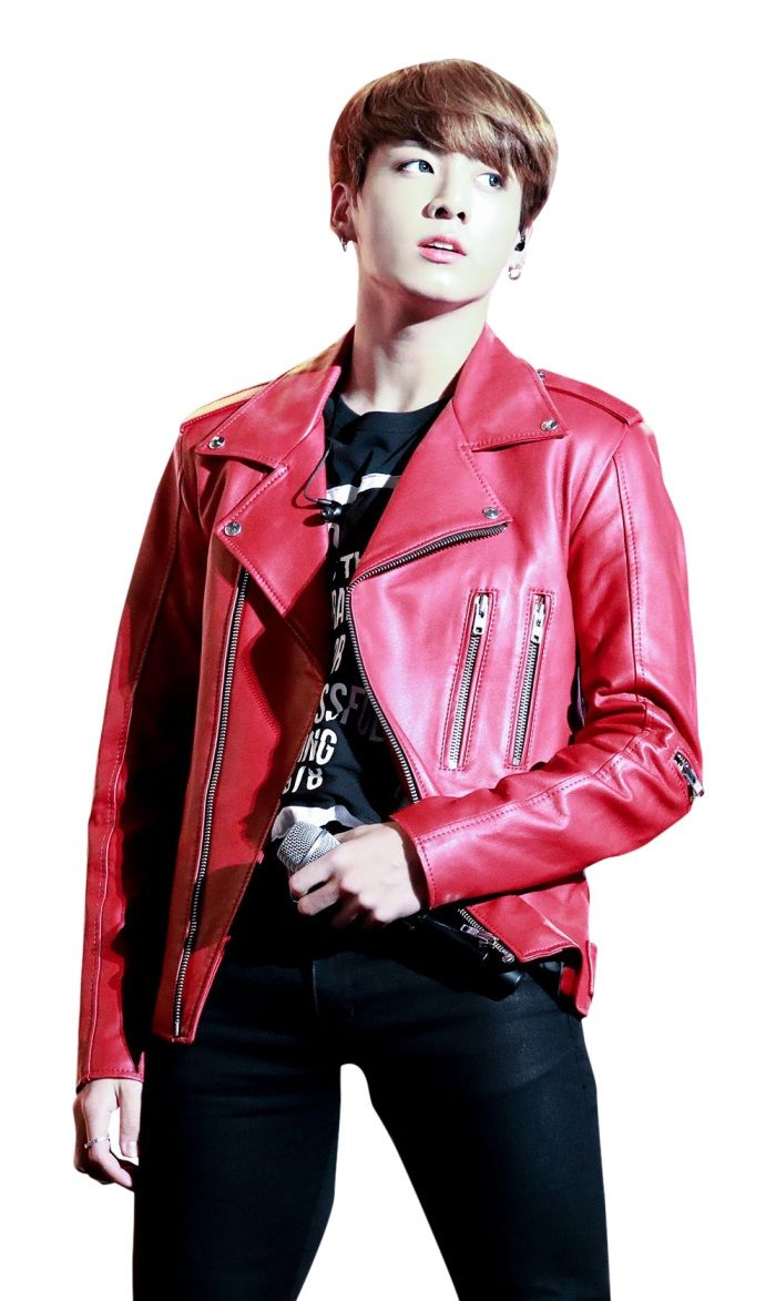 Jungkook Red Leather Jacket Just American Jackets Celebrity Jackets Jackets Leather Jacket [ 1173 x 700 Pixel ]