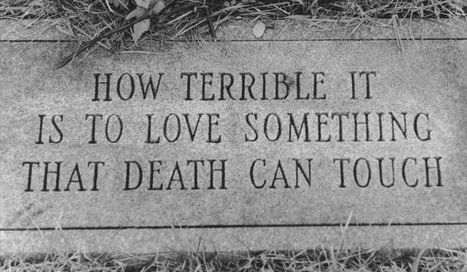 "Especially when that ""something"" you loved most in the whole world has been touched by it, and taken out of your life forever."