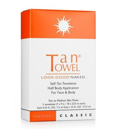 Not getting enough sun lately?  Try Tan Towels, an easy, no mess way to get some color to your skin! Just use the towel to spread a bit of sunshine on your skin!  You'll get noticeably darker wherever you rub the tan towel.