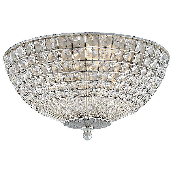 Visual Comfort Silver Renwick Flushmount Light By Aerin Lighting