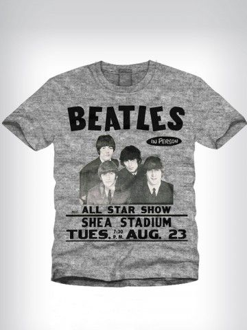 Buy T-Shirts Online | The Beatles Grey Round Neck T-shirt | BBGT647 | cilory.com
