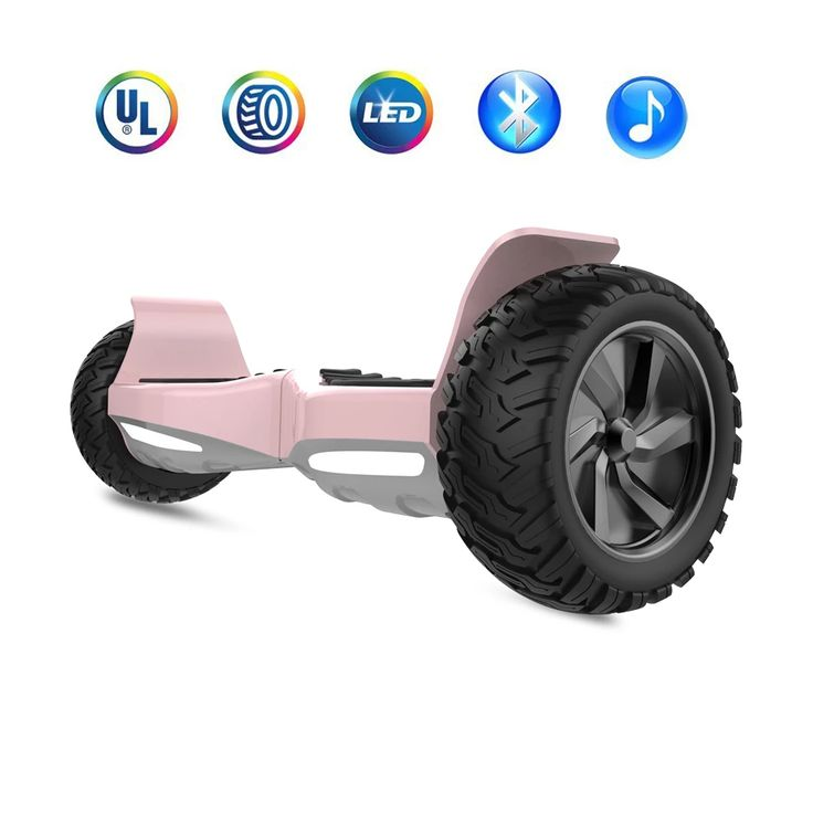 Rose Gold Hoverboard 8 5 Quot Off Road Wheels Electric Self Balancing Scooter With Bluetooth And Led
