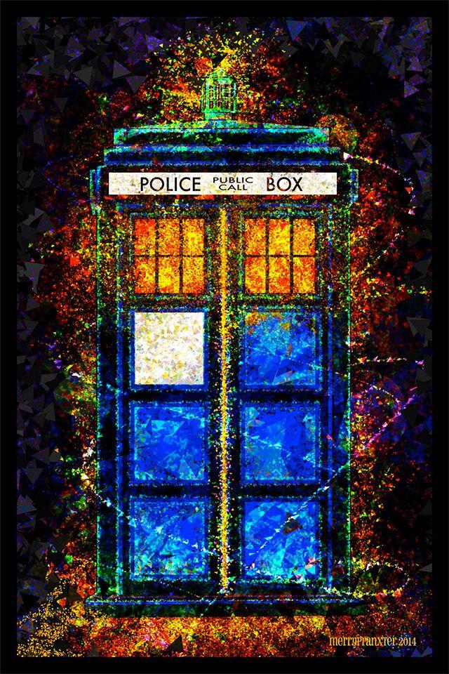 Doctor Who: Beautiful Digital TARDIS Poster Art