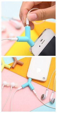 [$0.99] 3.5mm Earphones Sharing Type Plug(Random Color) DIY for iPhone Samsung Galaxy s8 s7 Sony Huawei