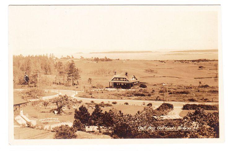BC – VICTORIA, Oak Bay Golf Links, Newport Ave., F. Gowen c.1919-1920 RPPC