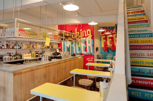 Type Murals! Wishbone Restaurant by Shed