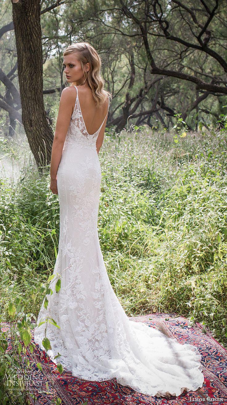limor rosen 2017 bridal spagetti strap sweetheart neckline full embellishment lace elegant mermaid wedding dress scoop back chapel train (holly) bv