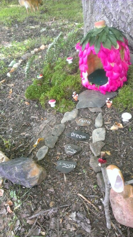 One of the best mother daughter activities is making a fairy garden. What little girl doesnt like fairies. Here is what me and my daughter have started in the back yard