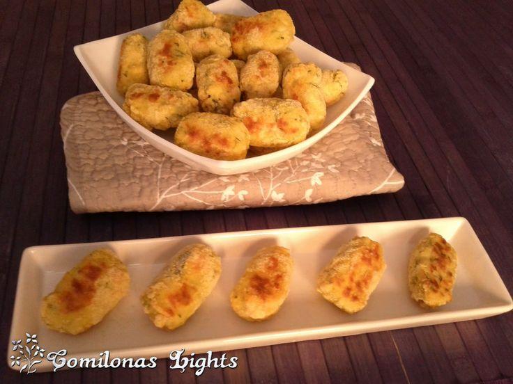 Comilonas Lights: Croquetas de arroz, calabacín y pollo