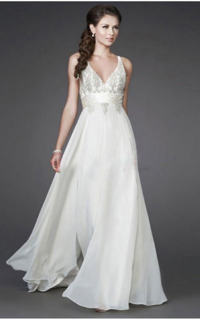 V-neck Sleeveless A-line Zipper Floor-length Formal Dresses afea7557