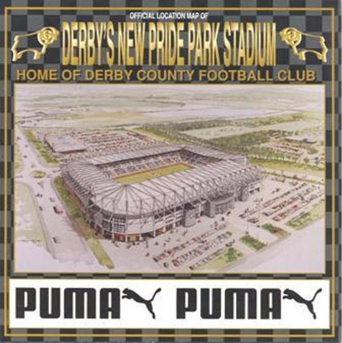 New Pride Park Stadium, casa del Derby County Football Club.