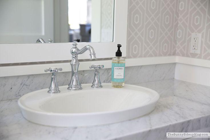 love the drop in sink for the vanities.