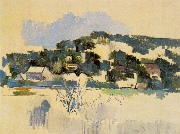 View of Auvers - Paul Cezanne - WikiPaintings.org