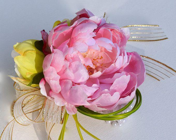 Ramillete de la novia - perfección Rosa peonía seda, ramillete de la muñeca, flores de boda, bodas de destino, accesorios de la boda, ramillete.