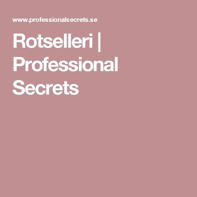 Rotselleri   Professional Secrets