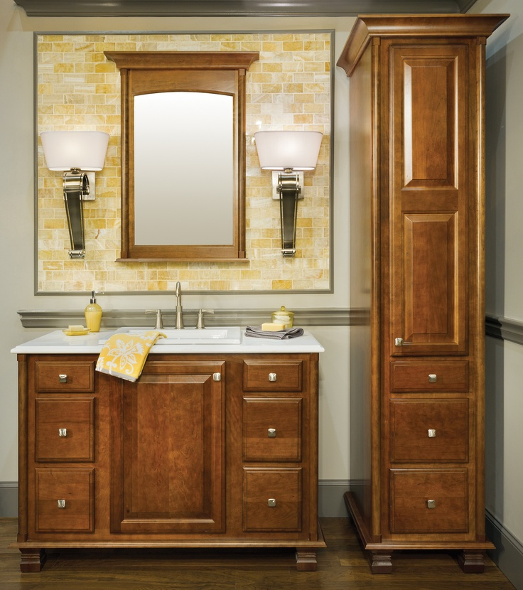 Elegant Bath Collection   Door Style   Rose Hall Square In Cherry Finished  In Sable. Wellborn CabinetsStorage ...