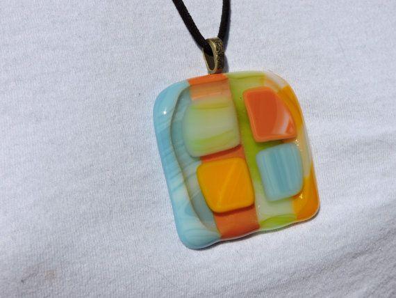 34 mejores imgenes de pendants for sale en pinterest envoltura de multi color geo shape fused glass pendant by violetglass123 aloadofball Gallery