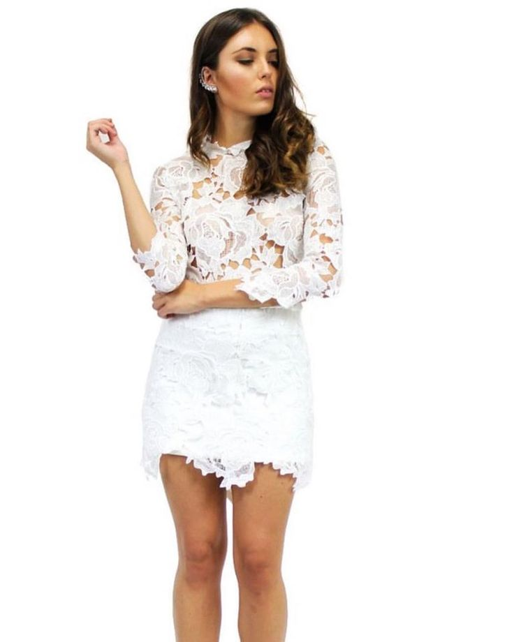 Gorgeous white cut out lace in our Elavonza COCO lace shift dress ☁️ shop here www.elavonza.com