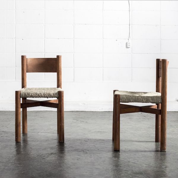 "Pair of Charlotte Perriand ""Meribel"" Chairs/シャルロット・ペリアン チェア[Objet d' art] #perriand #chair #vintage #ペリアン #チェア #ヴィンテージ"