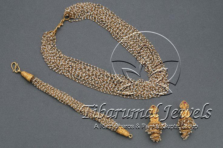 Pearl Necklace Set | Tibarumal Jewels | Jewellers of Gems, Pearls, Diamonds, and Precious Stones
