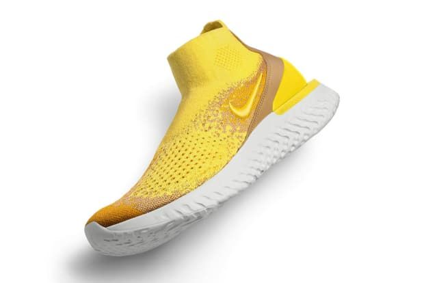 The Nike Rise React Flyknit Features a
