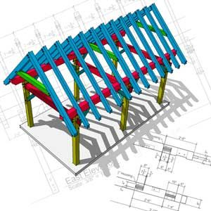 Timber Frame Plans for Sale -  A large selection http://timberframehq.com/timber-frame-plans/