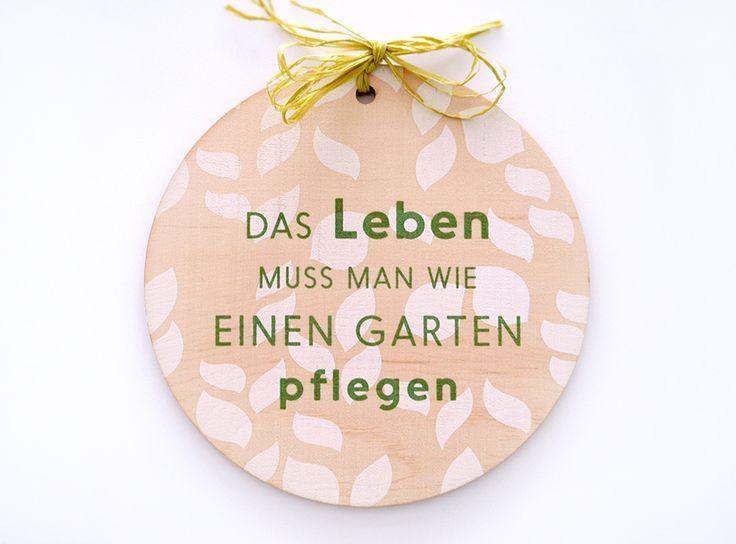 Sign // White and Green Silkscreen on Wood #siebdruck #silkscreen #holzschild #leben