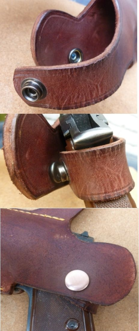 'Auction version' Spectre holster with press stud closing strap Spectre  holster. The holster auctioned at Christies in February 2016 was fitted  with press ...