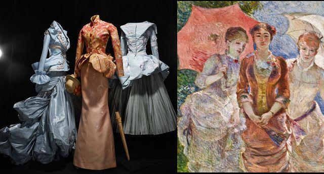 Moda y arte: el impresionismo en los vestidos de Christian Dior