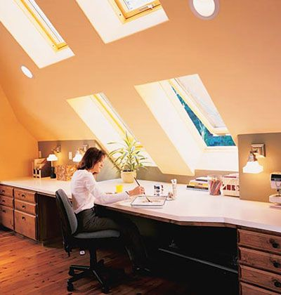 1000 Ideas About Attic Office Space On Pinterest Attic