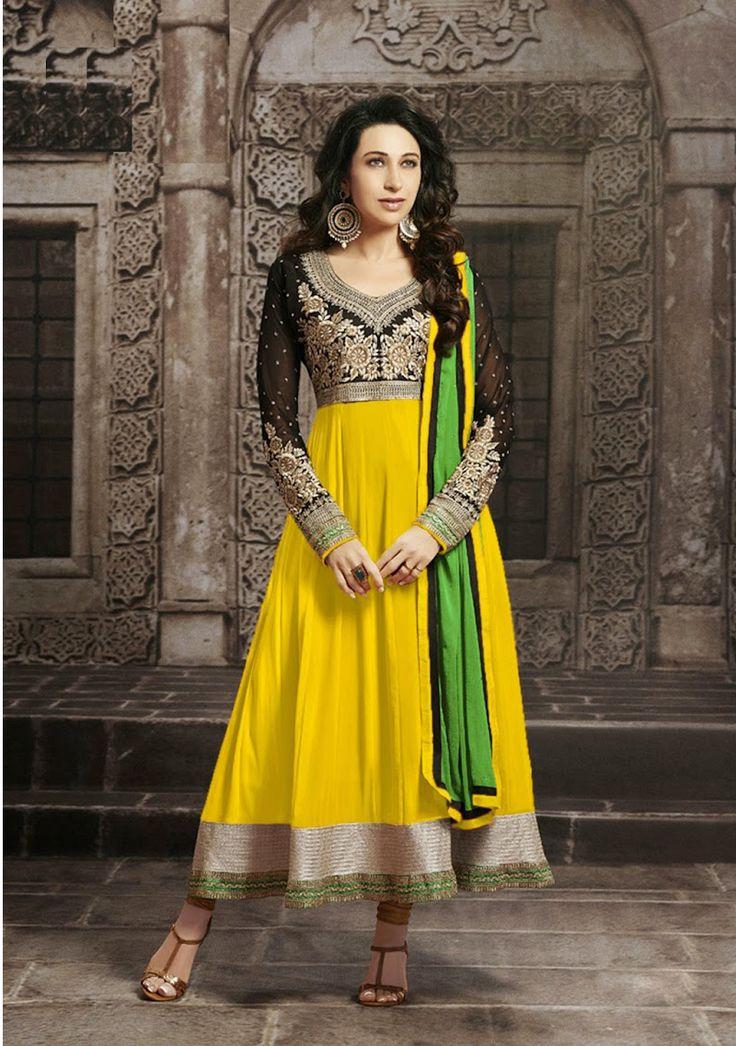 Metroz Pink Anarkali Salwar Suit  #designer #salwarsuit #designer #ethnicsuit #shopvoie #pakistanisuit #partywear #fancysuit #anarkali #yellow
