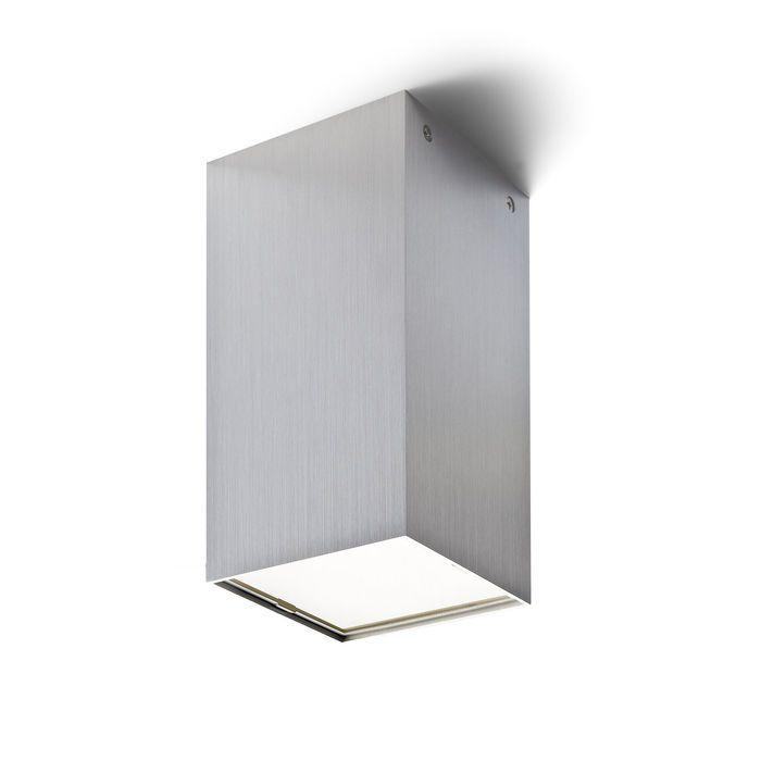 MEA štvorcová - Stropné svietidlo pre úsporný svetelný zdroj, so satinovaným krycím sklom. Dodávané v dvoch farebných variantách.
