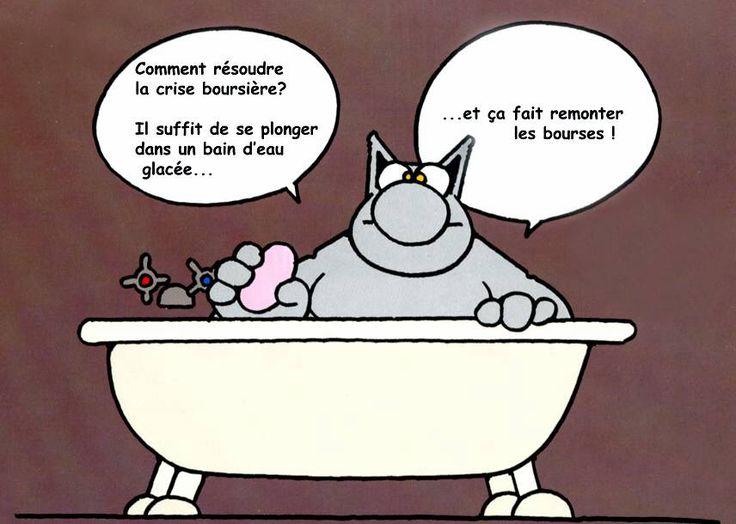 La crise boursière- Le chat, Philippe Geluck