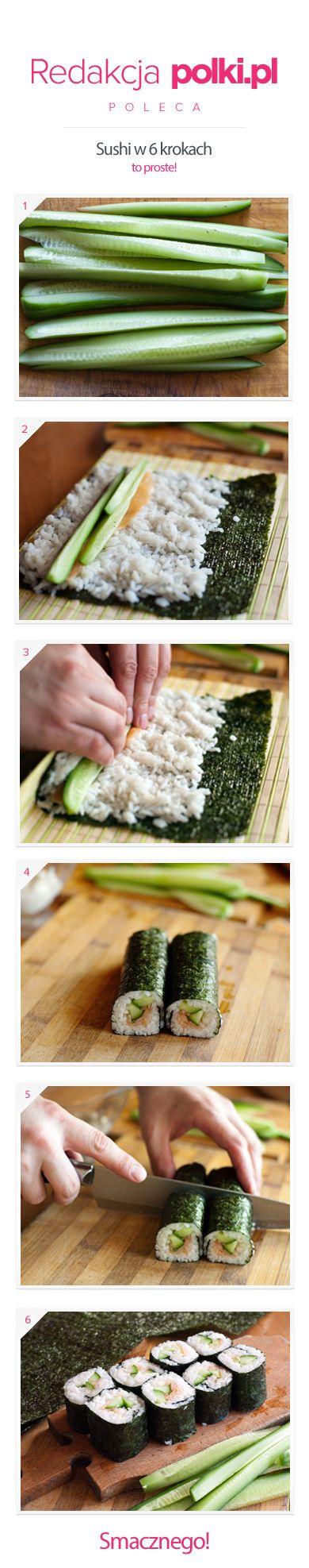 Sushi krok po kroku. Przepis znajdziecie na: http://polki.pl/kuchnia_przepisy_lista_przekaski_artykul,10017399.html