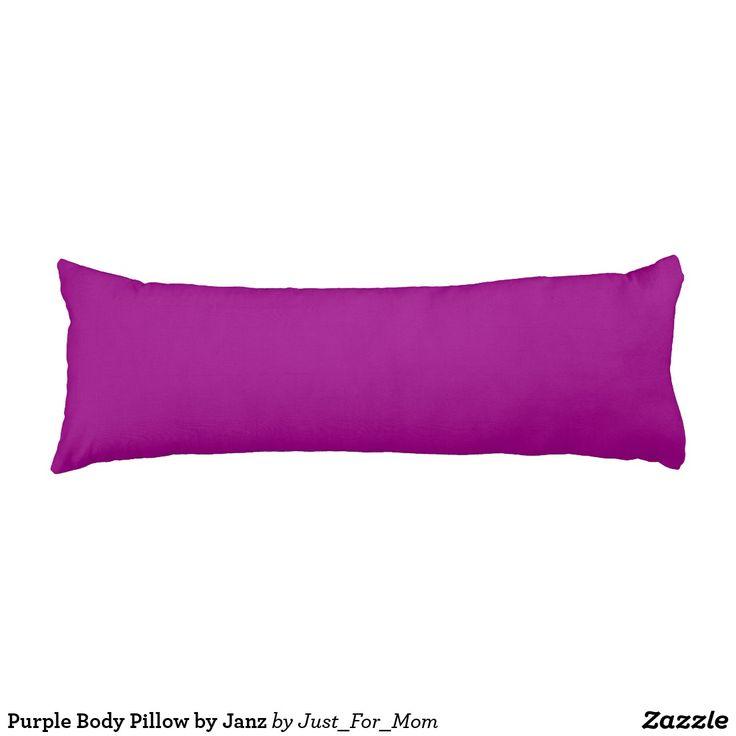 Purple Body Pillow by Janz
