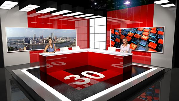 News 30 Set Design - Adhyatam Group on Behance