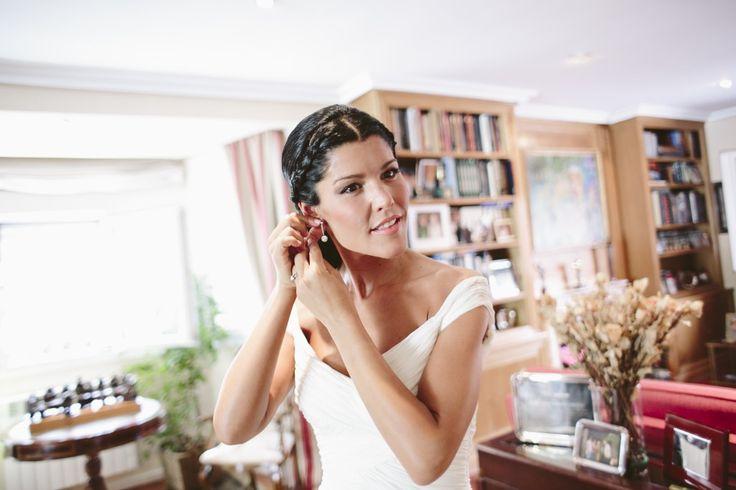 Peinado de Sara! una novia sofisticada y muy chic